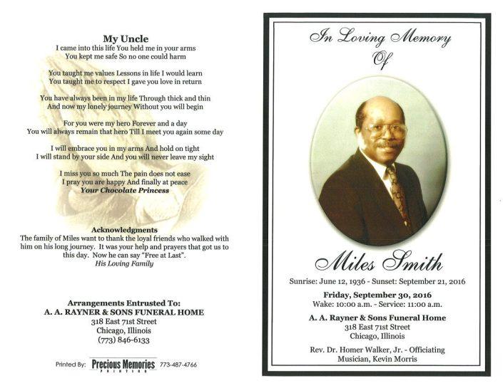 Miles Smith Obituary