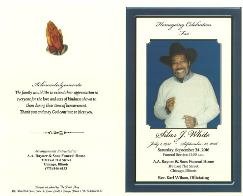 Silas J White Obituary