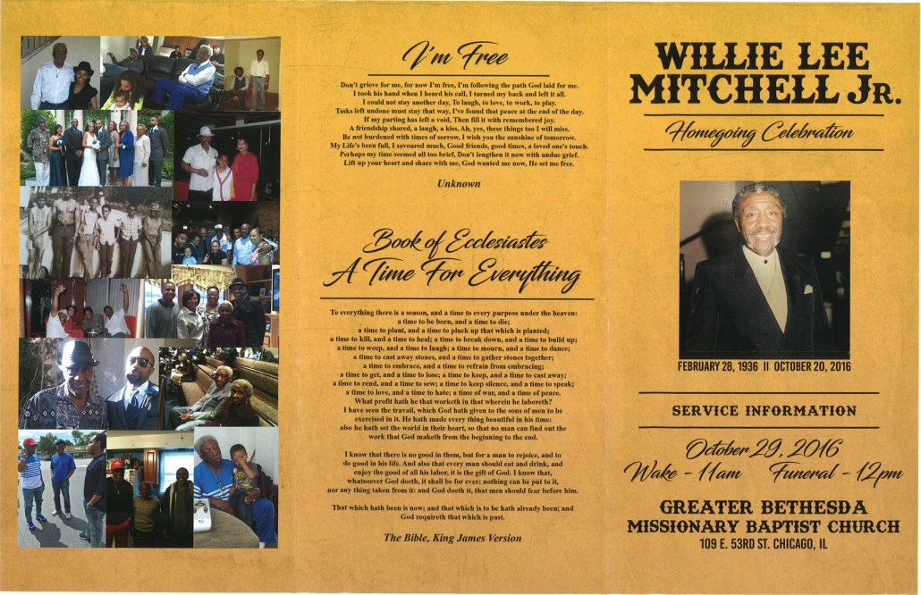 Willie Lee Mitchell Jr Obituary