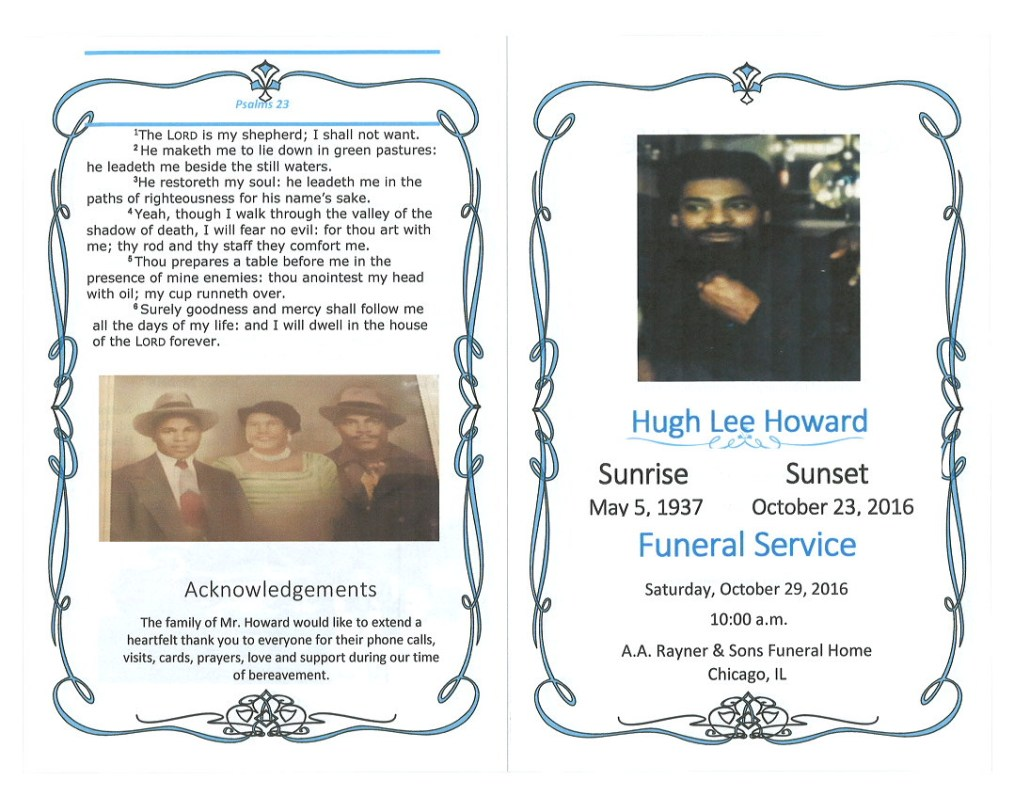 Hugh Lee Howard Obituary