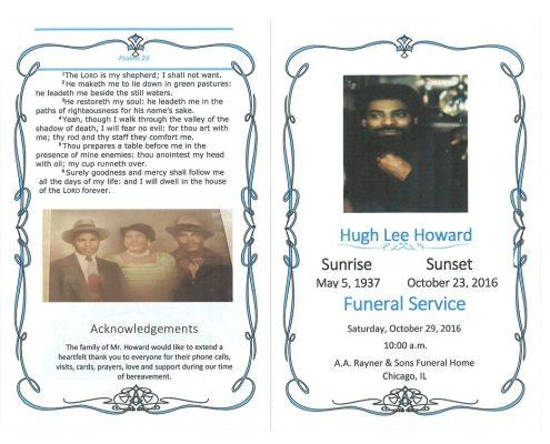 Hugh Lee Howard Obituary