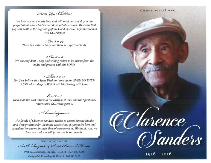 Clarence Sanders Obituary