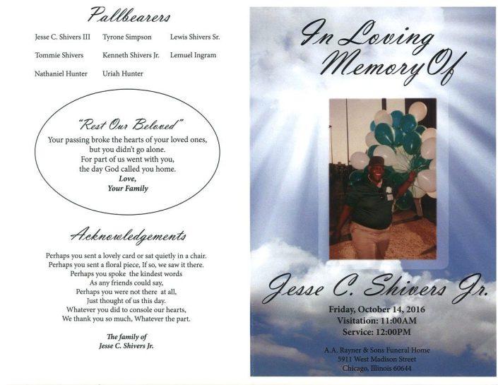 Jesse C shivers Jr Obituary
