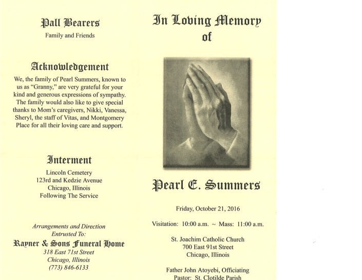 Pearl Summers Obituary