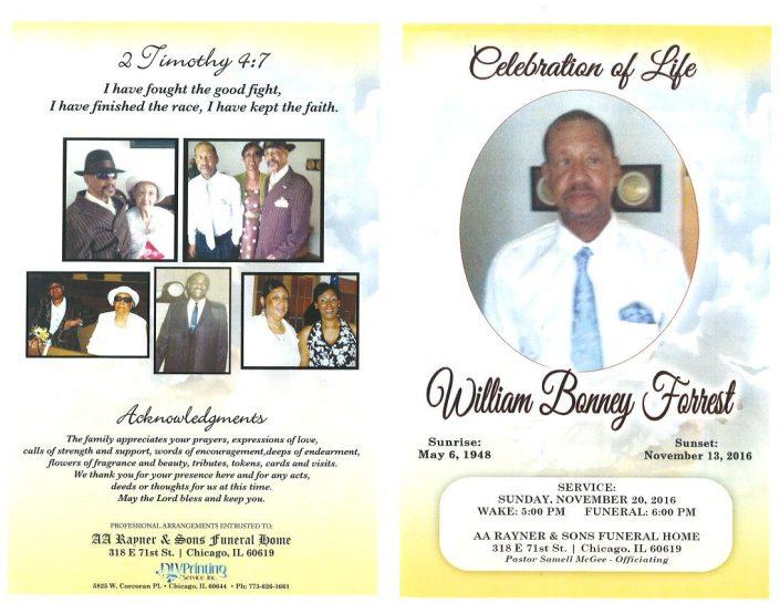 William Bonney Forrest Obituary