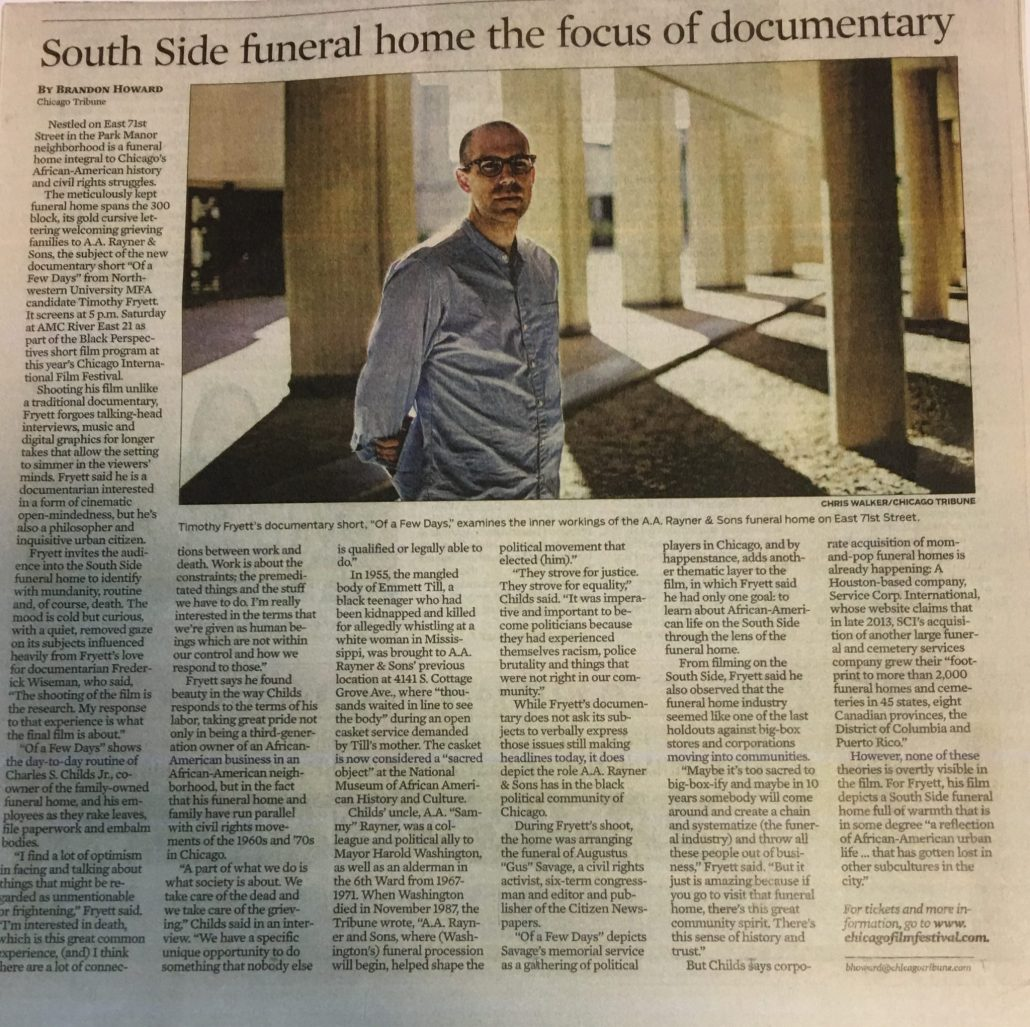 AA rayner and Sons Film Festival Award Winning Documentary
