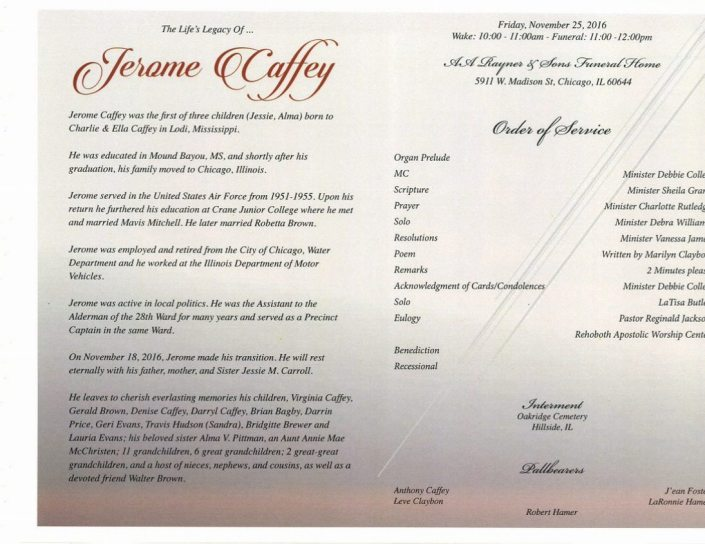 Jerome Caffey Obituary