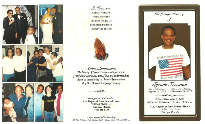 Tyrone Freeman Obituary AA Rayner and Sons Funeral Home