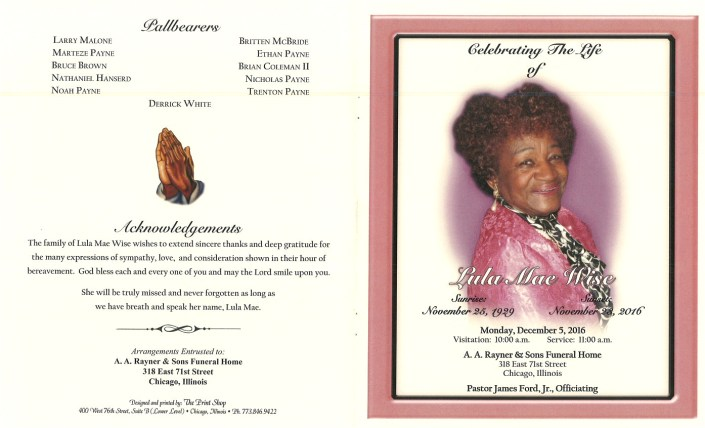 Lula Mae Wise Obituary