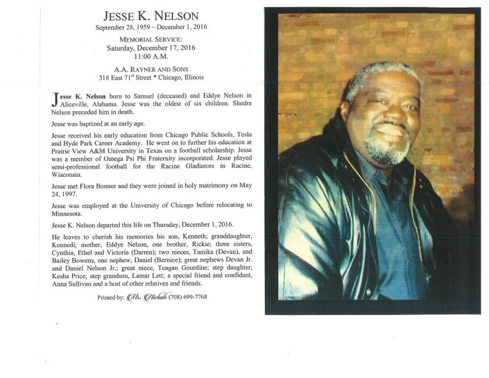 Jesse K Nelson Obituary