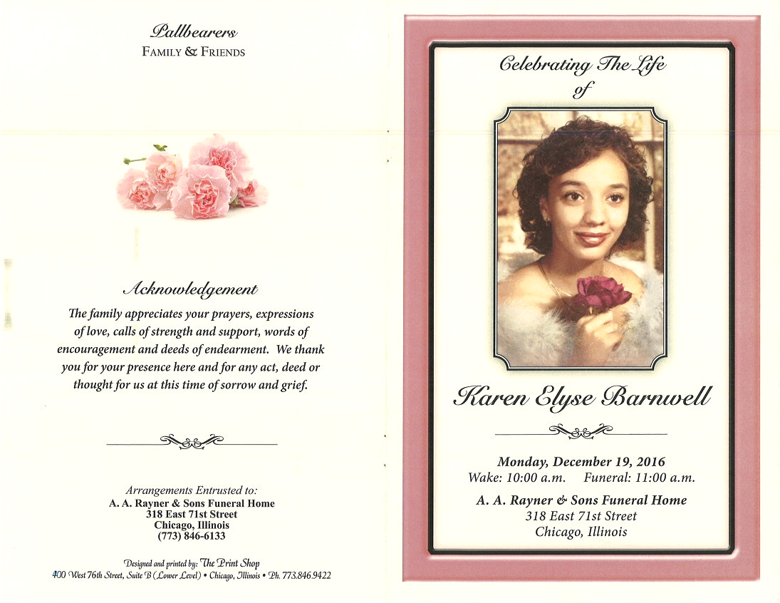 funeral handouts template - funeral program borders