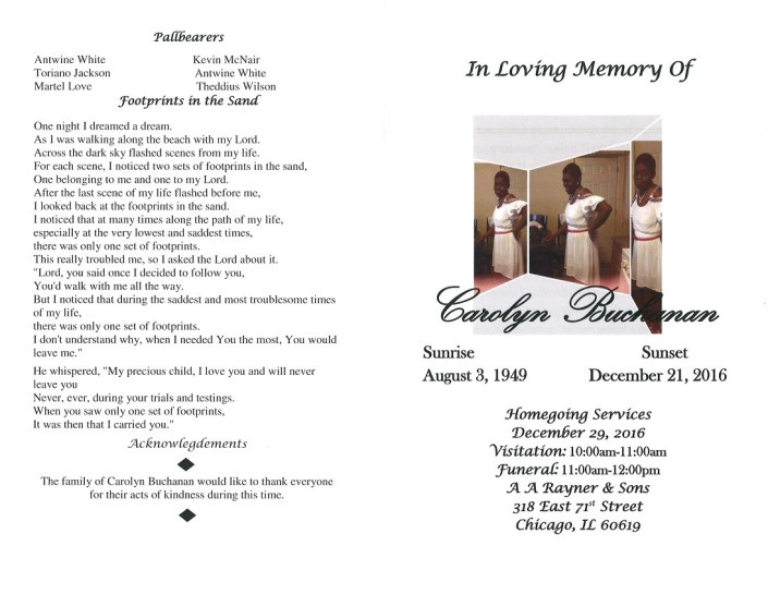 Carolyn Buchanan Obituary