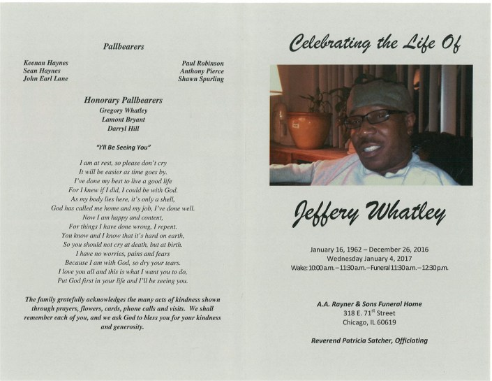 Jeffery Whatley Obituary