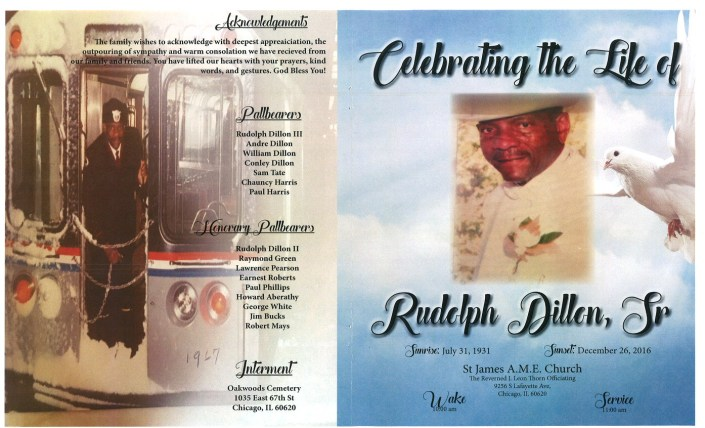 Rudolph Dillon Sr Obituary
