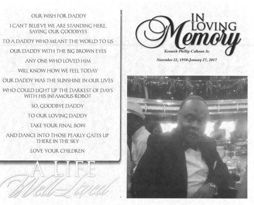 Kenneth Phillip Calhoun Sr obituary