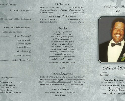 Oliver Brown Obituary