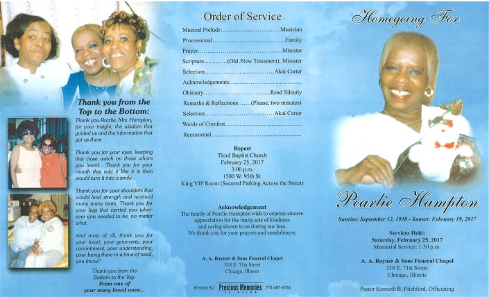 Peralie Hampton Obituary