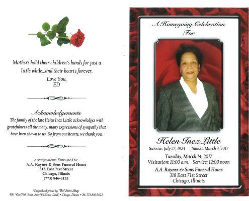 Helen Inez Little Obituary