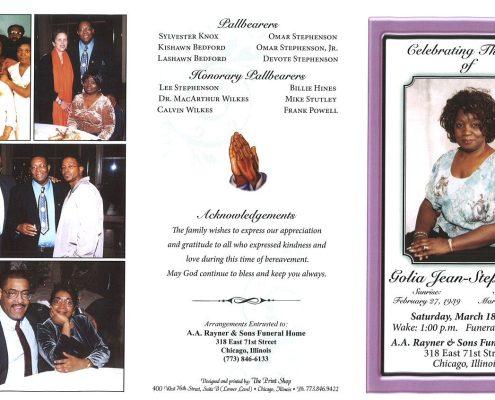Golia Jean Stephenson Obituary