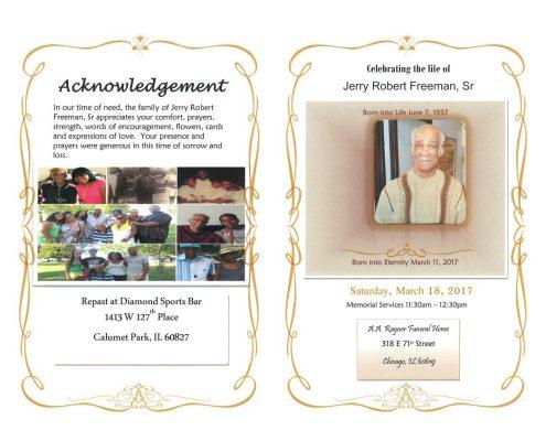Jerry Robert Freeman Sr Obituary