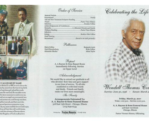 Wendell Thomas Collins Obituary