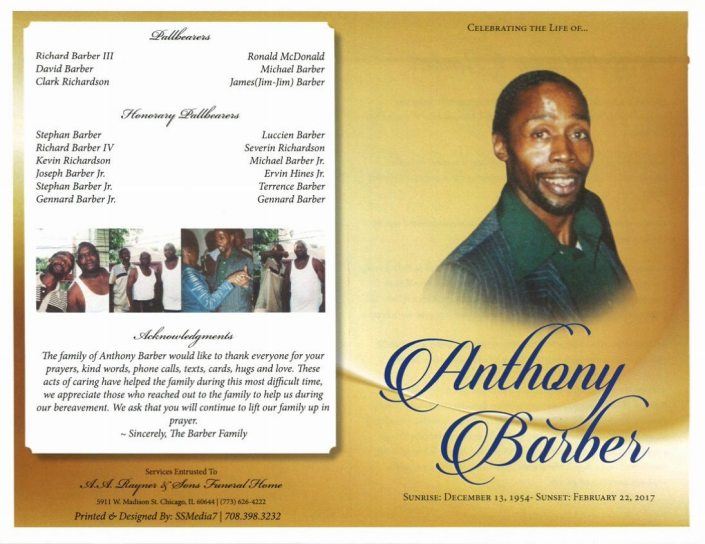 Anthony Barber Obituary