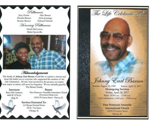 Johnny Earl Barnes Obituary