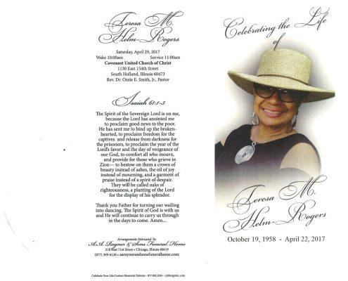 Teresa M Helm Rogers obituary