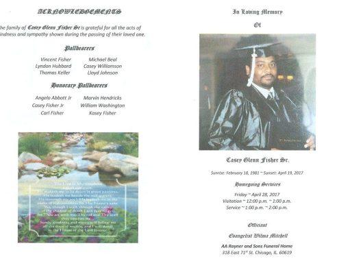Casey Glenn Fisher Sr Obituary