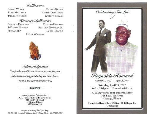 Reynolds Howard Obituary