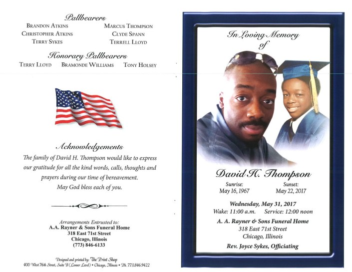 David H Thompson Obituary