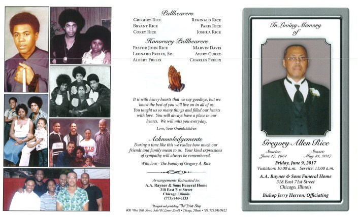 Gregory Allen Rice Obituary