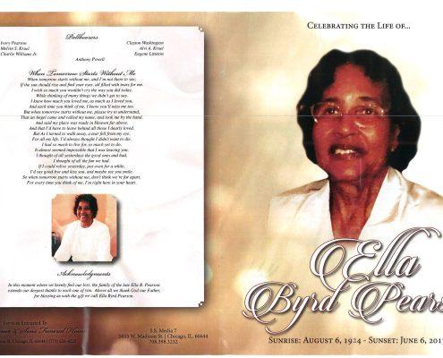 Ella Byrd Pearson Obituary
