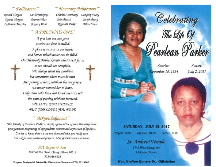 Pearlean Parker Obituary