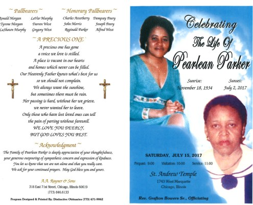Pearlean Parker Obituary