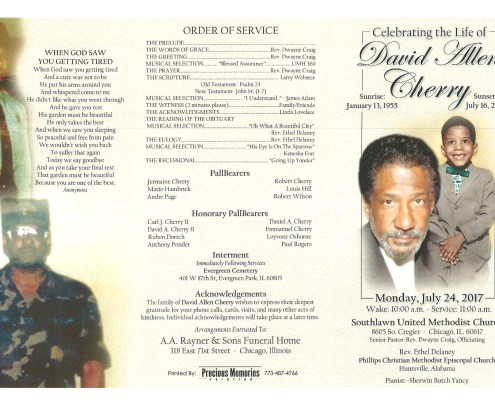 David Allen Cherry Obituary