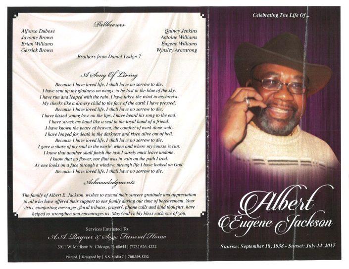 Albert Eugene Jackson Obituary