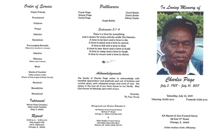 Charles Page Obituary