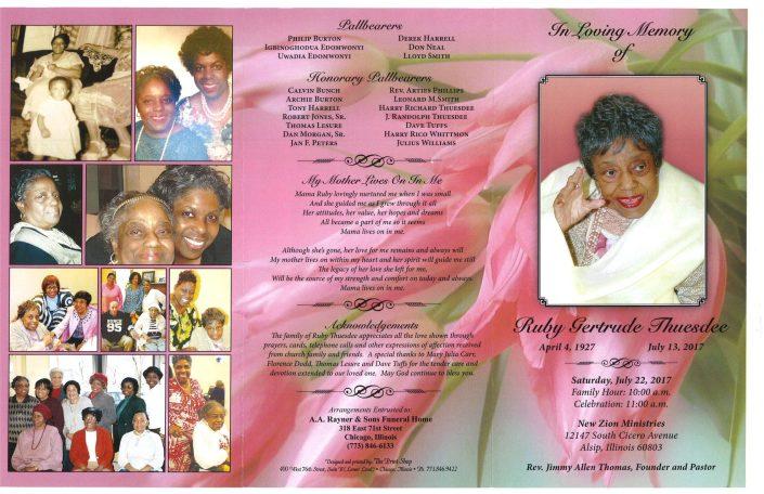 Ruby Gertrude Thuesdee Obituary