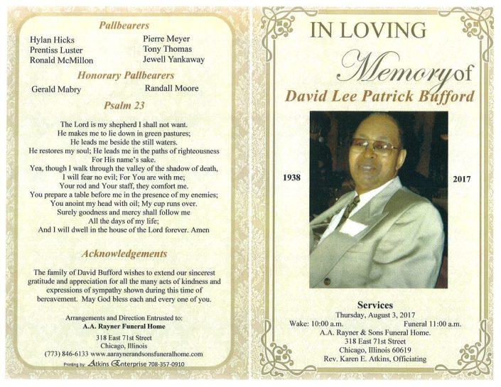 David Lee Patrick Bufford Obituary