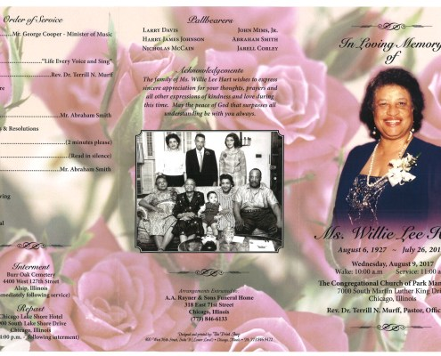 Ms Willie Lee Hart Obituary