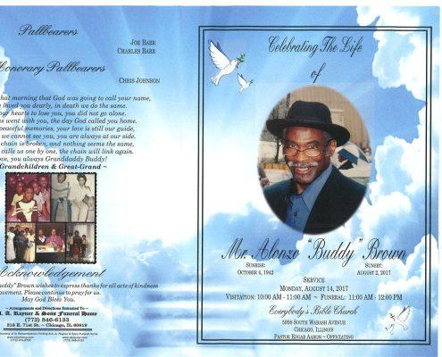 Mr Alonzo Buddy Brown Obituary