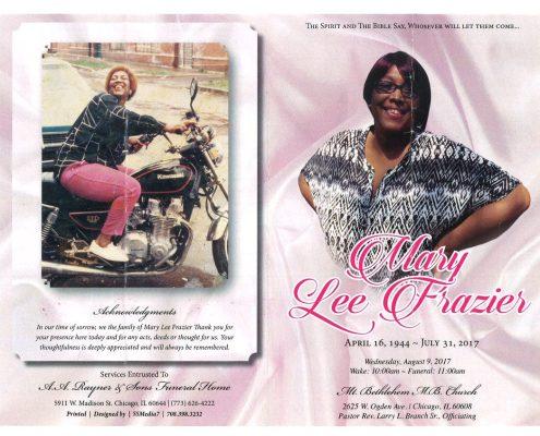 Mary Lee Frazier Obituary