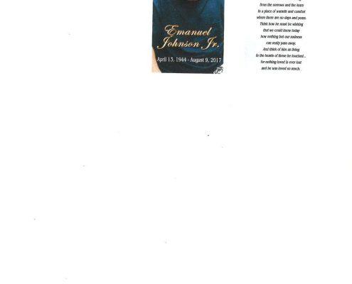 Emanuel Johnson Jr Obituary