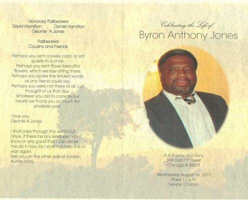 Byron Anthony Jones Obituary