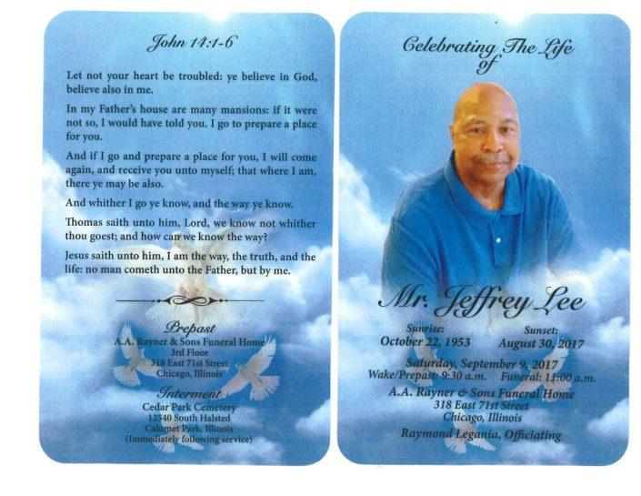 Mr Jeffery Lee Obituary