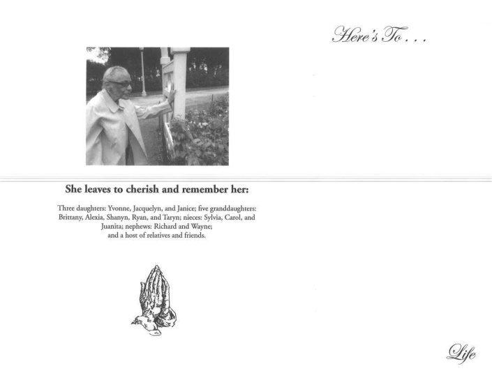 Vivian Lee Hoye Obituary