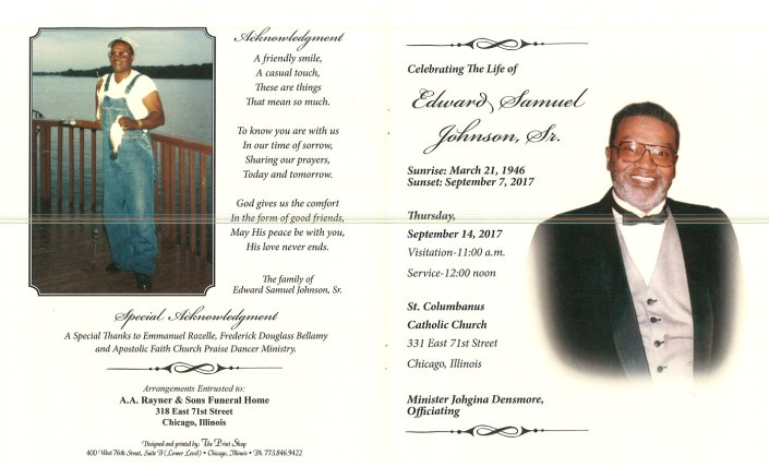 Edward Samuel Johnson Sr Obituary