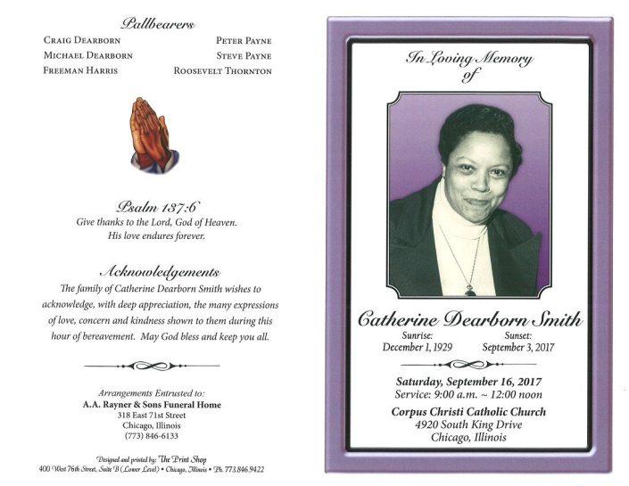 Catherine Dearborn Smith Obituary