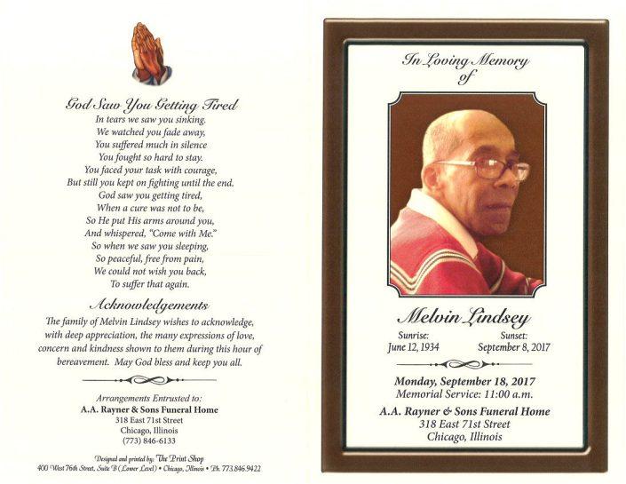 Melvin Lindsey Obituary